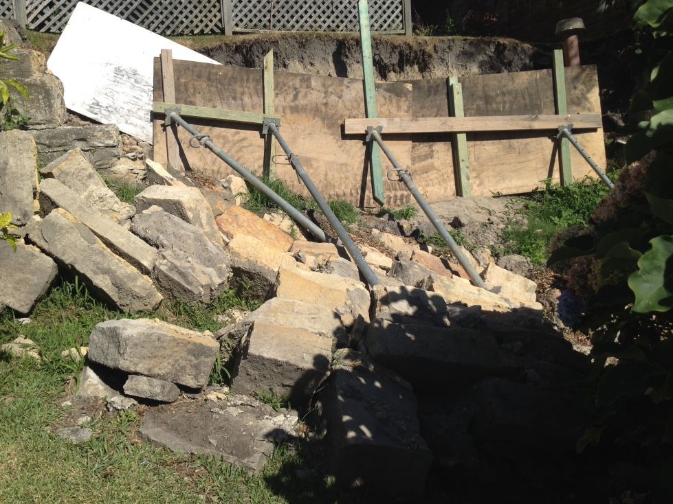 Cremorne Collapsed Wall Repair